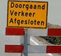 wegafsluiting, verkeer