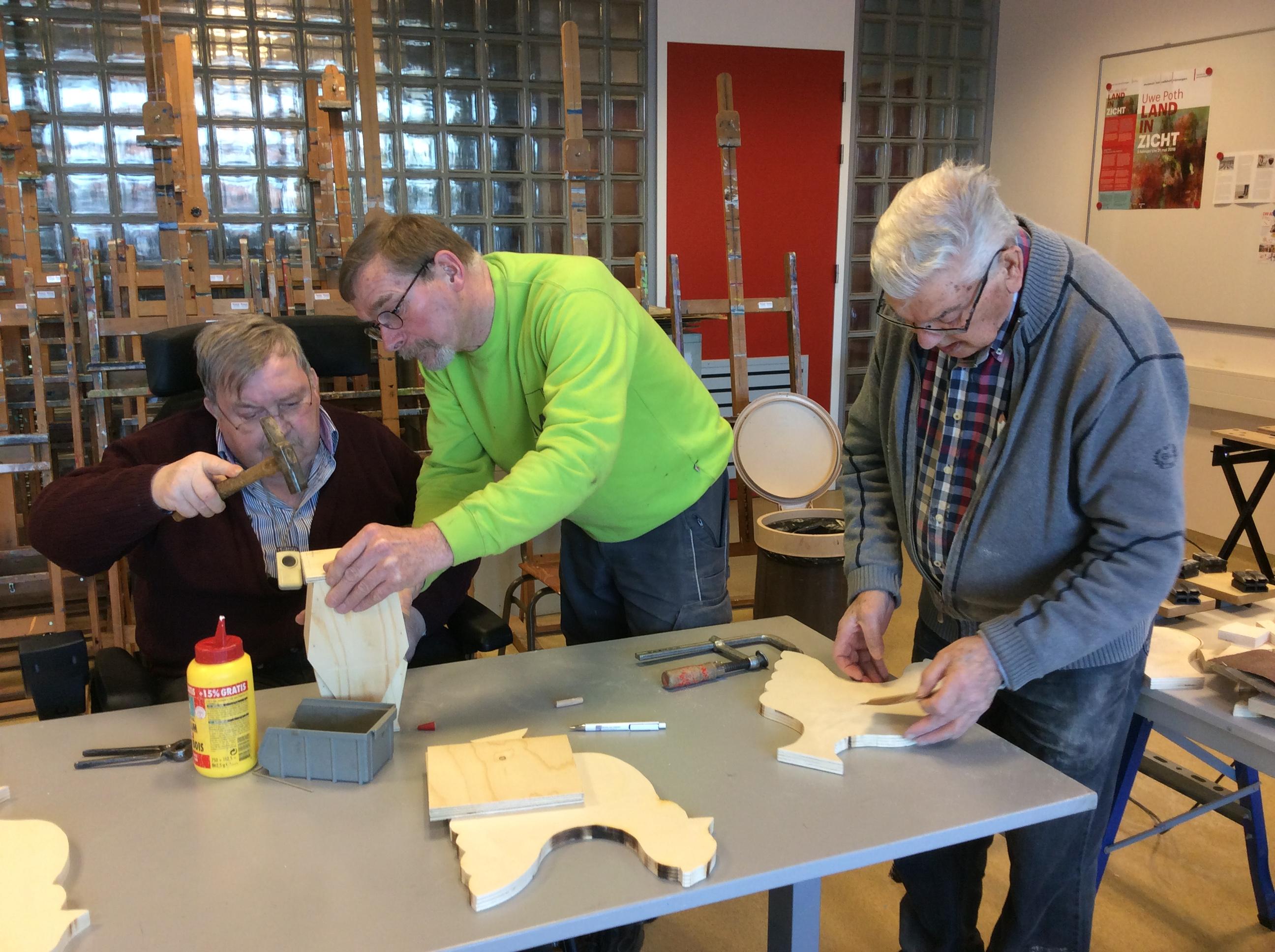 Foto bij workshop houtbewerking