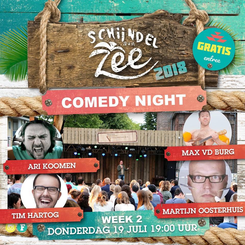 comedy night Schijndel aan Zee 2018