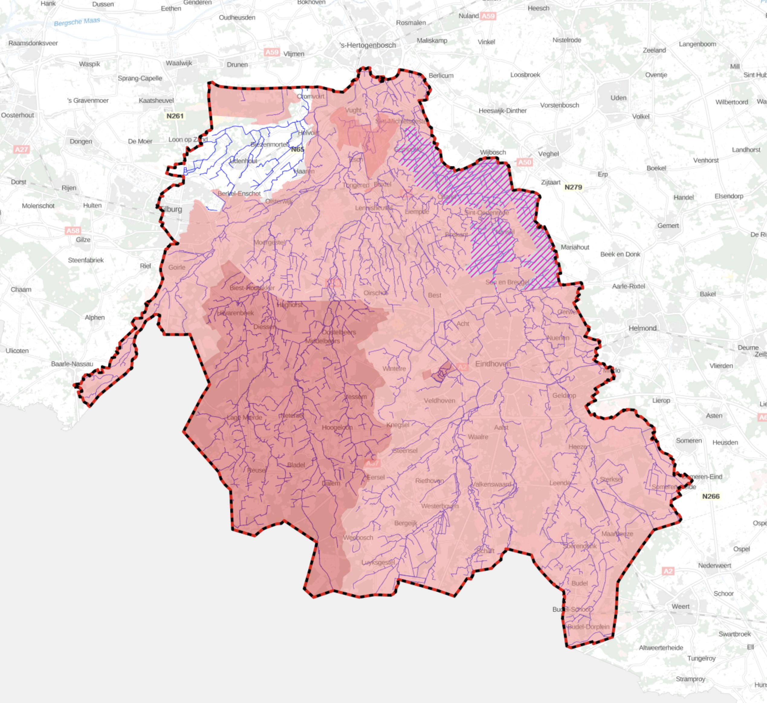 Stroomgebied, Waterschap de Dommel