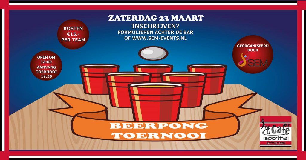 Beerpong toernooi de Sporthal