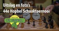 Hopbel Schaaktoernooi uitslag en foto's