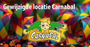Carnabal 2019 gewijzigde locatie