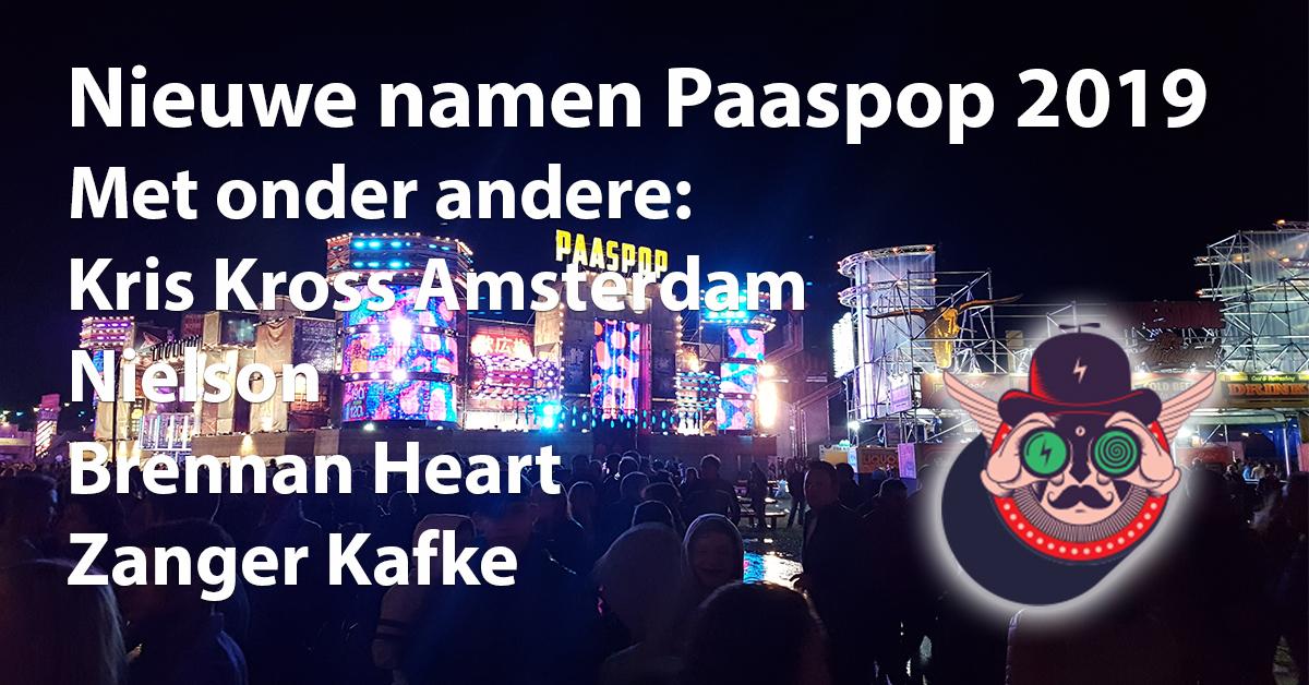 Paaspop 2019 nieuwe artiesten