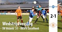Wedstrijdverslag SV Avanti 31 - Excellent