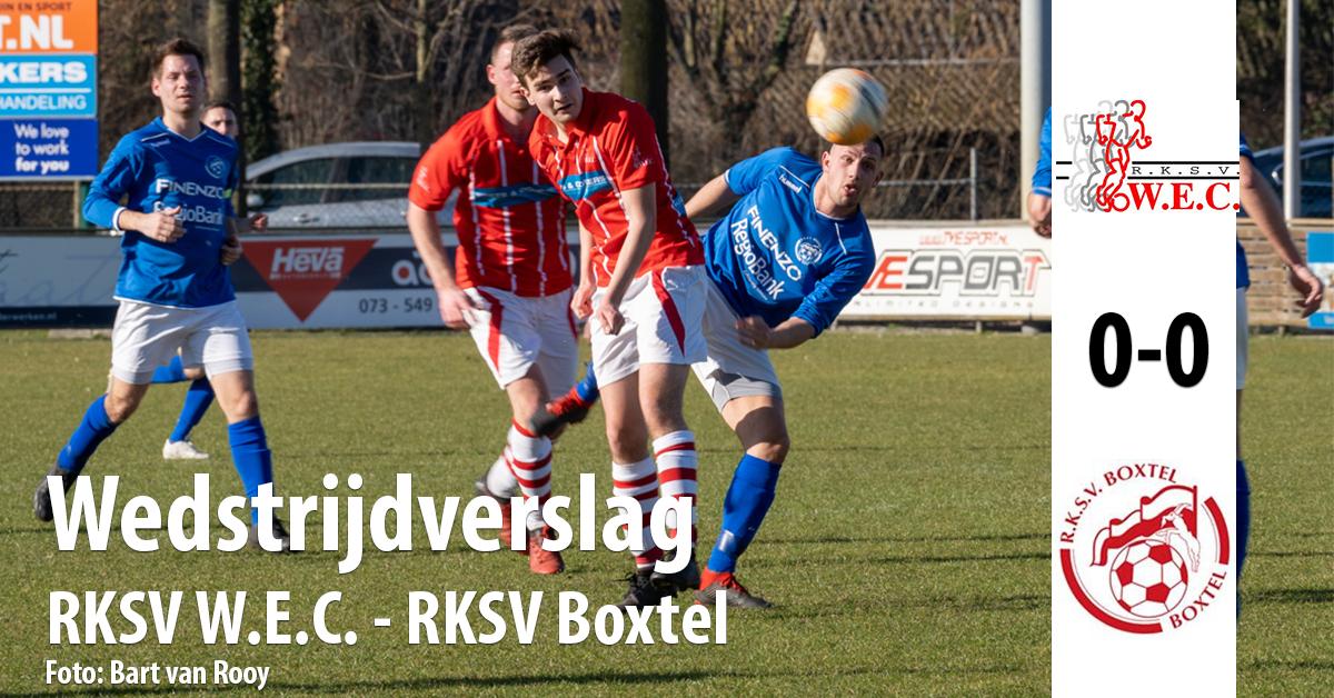 Wedstrijdverslag wedstrijd WEC - Boxtel