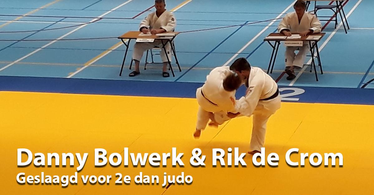 Danny en Rik judo 2e dan