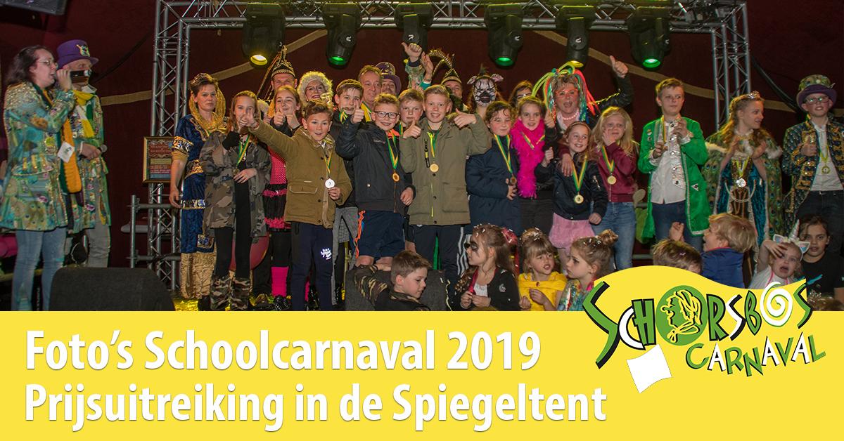 Schoolcarnaval Prijsuitreiking