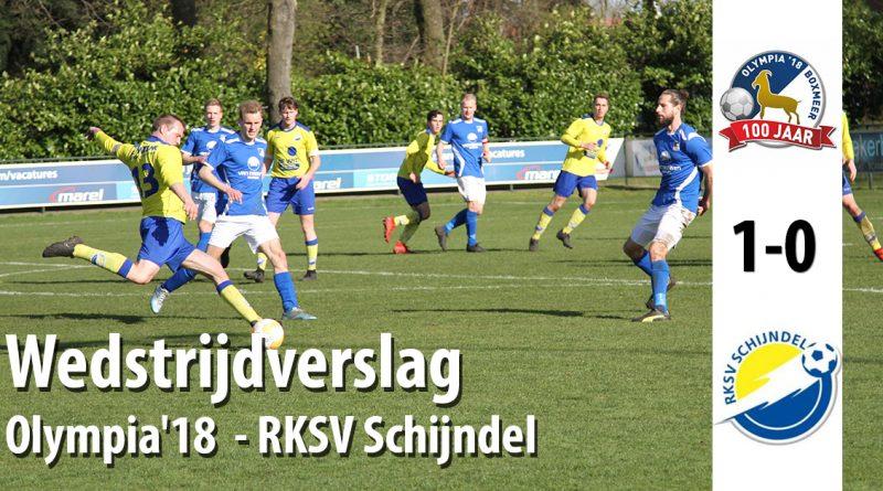 Wedstrijdverslag wedstrijd Olympia 18 - RKSV Schijndel