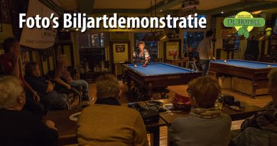 Foto's biljartdemonstratie