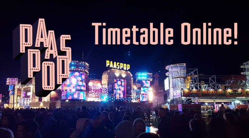Paaspop 2019 timetable