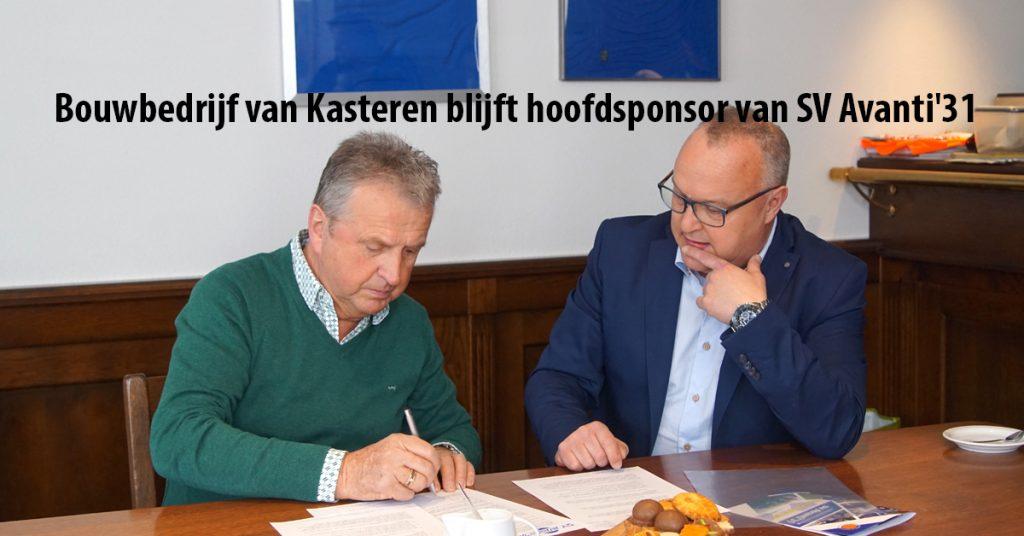 Bouwbedrijf Van Kasteren Blijft Hoofdsponsor Van Sv Avanti31