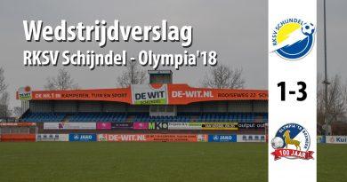 Wedstrijdverslag wedstrijd RKSV Schijndel - Olympia