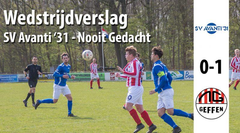 Wedstrijdverslag wedstrijd SV Avanti 31 - Nooit Gedacht