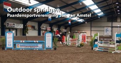 Outdoor springen bij Paardensportvereniging Jan van Amstel