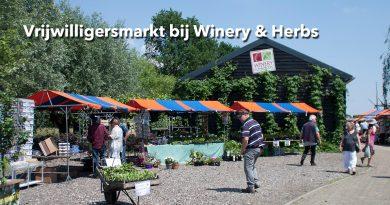 Vrijwilligersmarkt bij Winery & Herbs