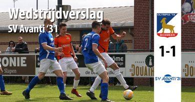 Wedstrijdverslag wedstrijd Olympia SV Avanti 31