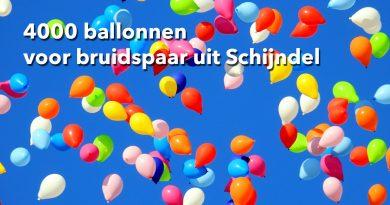 4000 ballonnen voor bruidspaar uit Schijndel