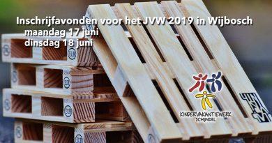 Inschrijfavonden voor het JVW 2019 in Wijbosch