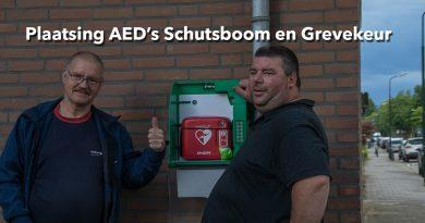 Plaatsing AED's Schutsboom en Grevekeur