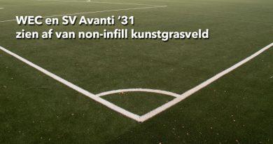 WEC en SV Avanti '31 zien af van non-infill kunstgrasveld