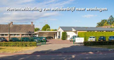 Herontwikkeling van autobedrijf naar woningen