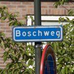 Boschweg straatnaambord