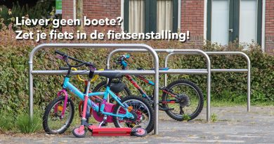 Liever geen boete Zet je fiets in de fietsenstalling