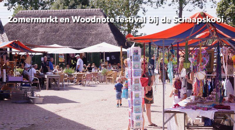 Zomermarkt en Woodnote festival bij de Schaapskooi