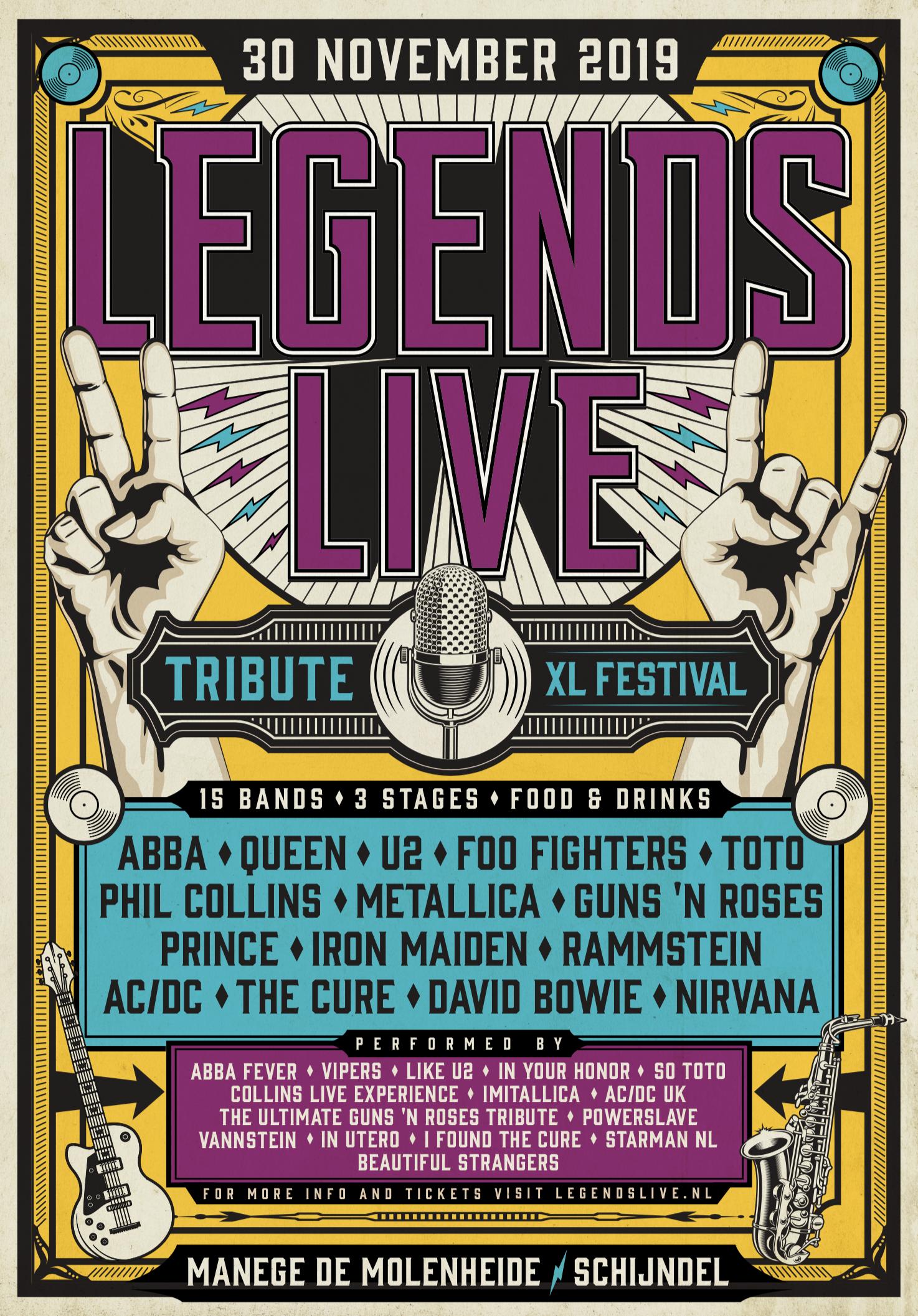 XXL-editie 'Legends Live–XL Festival' manege de Molenheide