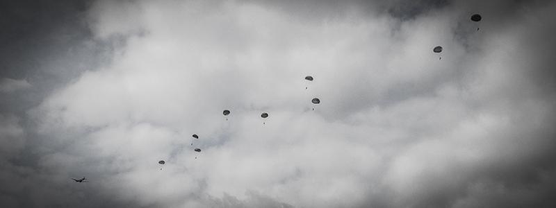 Parachutisten banner