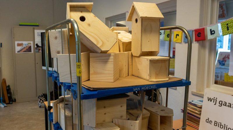 Foto's – huisvesting voor mezen in Wijbosch