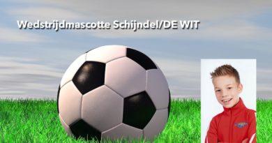 Tieme Verwegen wedstrijdmascotte bij Schijndel/DE WIT – Den Dungen
