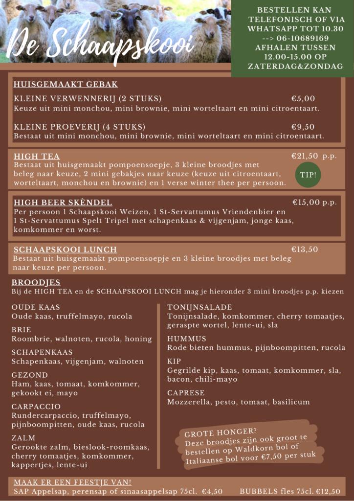 drive thru schaapskooi menu 1